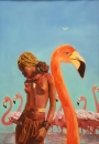 Painting «Flamingo», aughtor BN, 6500 UAH.